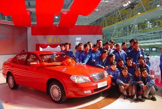奇瑞汽车发展史-奇瑞发展历程 对外开放成就了奇瑞崛起高清图片
