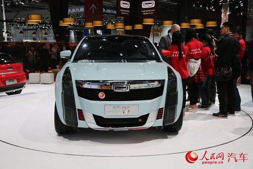 人民网直击2015上海车展 观致2插电式混合动力suv概念车 高清图片