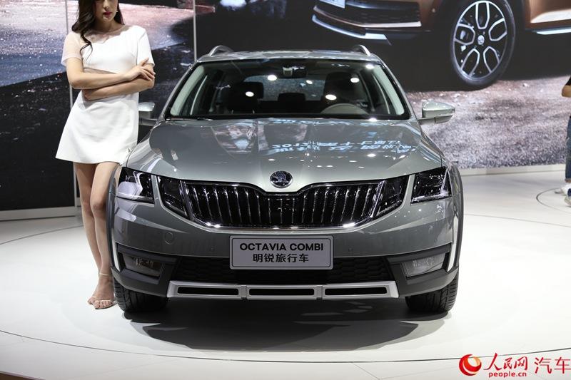 人民网直击2017上海车展——上汽斯柯达全新明锐旅行车正式首发