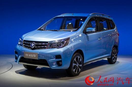 启辰首款MPV车型M50V亮相上海车展高清图片