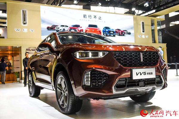 WEYVV5终结版广州车展开启预售预售价为为13.5万元
