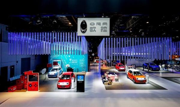 搭载自动驾驶技术电动小车欧拉R1 亮相上海车展
