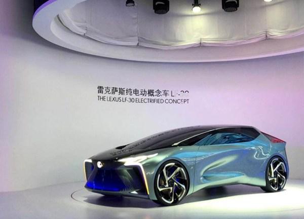 雷克萨斯纯电动概念车LF-30北京车展国内首发