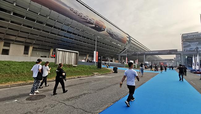 组图手机捕鱼游戏加盟:2020广州国际汽车展现场直击