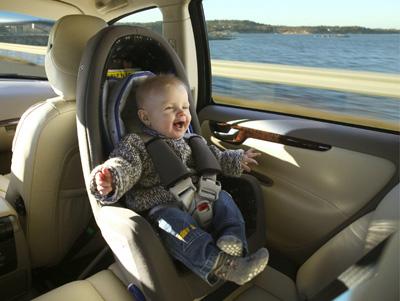 沃尔沃汽车后向式安全座椅高清图片