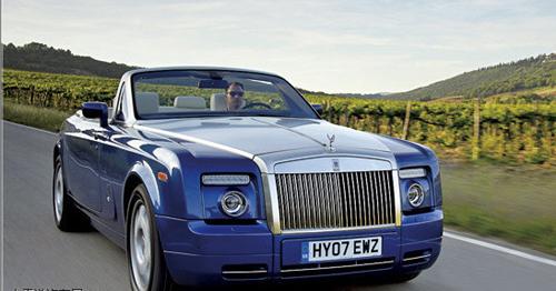 劳斯莱斯幻影敞篷轿车-2008全球最贵车排行 榜首售价2000000美元高清图片