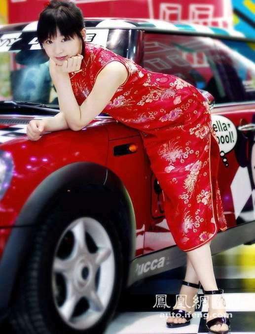美若天仙韩国车模 性感旗袍靓丽写真 汽车