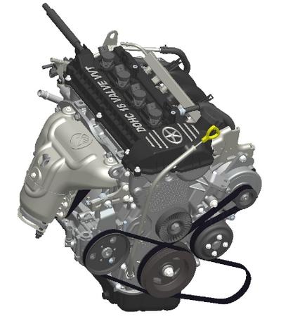 丰田8a型汽油机电路图
