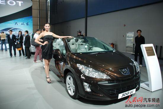 2010广州车展现场直击 标致308CC高清图片