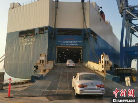 二手车出口逐步复苏广州港二手车迎来今年首批出口